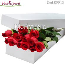 Caja Blanca 12 Rosas